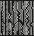 monochrome tribal seamless pattern vector image vector image