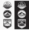 mountains logo badge 4 vector image vector image