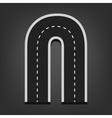 N letter Road font vector image vector image