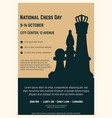 national chess day poster vector image vector image