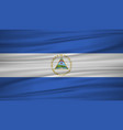 nicaragua flag flag of nicaragua blowig in the vector image vector image