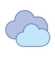 nice clouds weather of sky vector image vector image