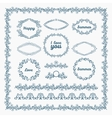 Ornate frames and borders page elements vector image vector image