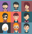people avatars with colorful backgrounds vector image vector image