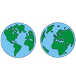 planet earth green and blue vector image vector image