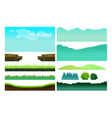 platformer game assetsset game elements vector image vector image