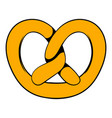 pretzel icon in icon cartoon vector image vector image