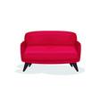 retro sofa living room furniture interior design vector image