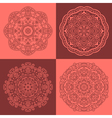 Round oriental ornaments vector image