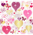 Seamless motley valentine pattern vector image vector image