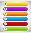 search bars buttons with magnifier glass symbols vector image vector image