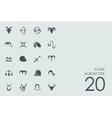 Set of Horoscope icons vector image