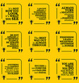 Set of motivational quotes about positive thinking vector image vector image
