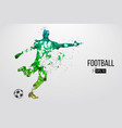silhouette of a football player from particles vector image