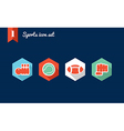 Sports flat icons set vector image vector image