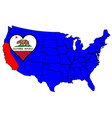 state of california vector image vector image
