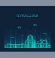 syracuse skyline sicily italy linear style vector image