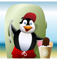 The seller of ice cream vector image vector image