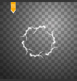 transparent light effect of electric ball vector image
