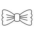 vintage bow tie icon outline style vector image