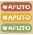 Vintage Maputo stamp set vector image vector image