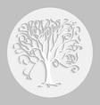 tree black sh 01 vector image
