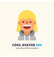 Girl in hoodie friendly smiling icon vector image