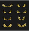 golden wings emblem vector image