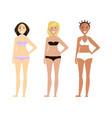 fashion cute girls in bikini vector image