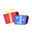 A gift boxes are placed vector image vector image