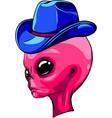 alien pink head with hat