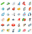 all day consultation icons set isometric style vector image vector image