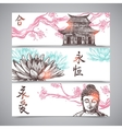 Asian Banners Set vector image vector image