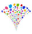 balloon fountain stream vector image vector image