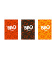 barbecue party invitation template vector image vector image