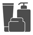 bath bottles solid icon lotion cream and gel