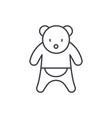 bear line icon concept bear linear vector image vector image