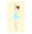 beautiful cute ballerina vector image vector image