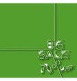 Big Sale 70 Off Text Design Template vector image vector image