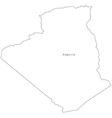 Black White Algeria Outline Map vector image vector image