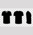 blank black t-shirt template vector image