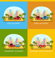 car accident banners - collision and pedestrian vector image vector image