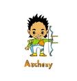 Cartoon Boy Archer with bow vector image