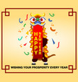 chinese new year greetings card vector image vector image