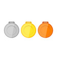 collection of medals for the champions vector image vector image