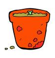 comic cartoon flower pot vector image vector image