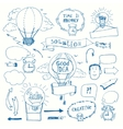 Creative doodles thinking concept vector image