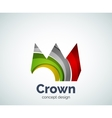 Crown logo template vector image vector image