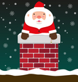 cute fat big Santa Claus come out of chimney vector image vector image