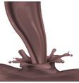 dark hot chocolate spray and splash vector image